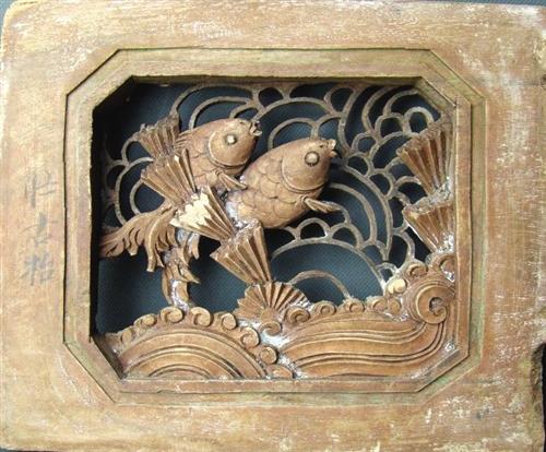 中国古建筑木雕装饰画