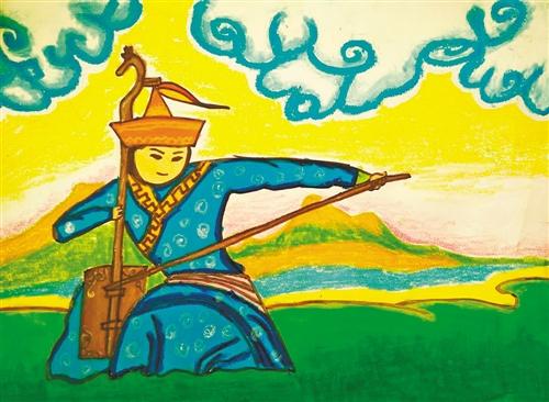 蒙古包装简笔画